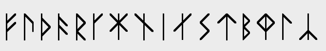 Runes of the Younger Futhork